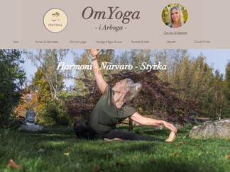 Hemsida klar åt yogaverksamhet