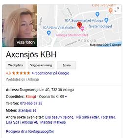 Axensjös Google My Business