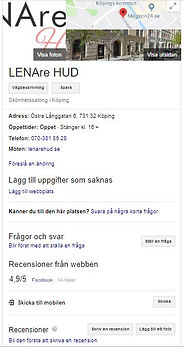 Bild på LENAre HUD på Google My Business
