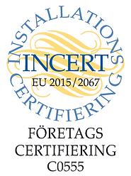 Märke - Incert Företagscert. EU 2015/2067 C0555