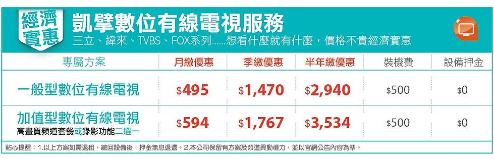 有線電視 價格