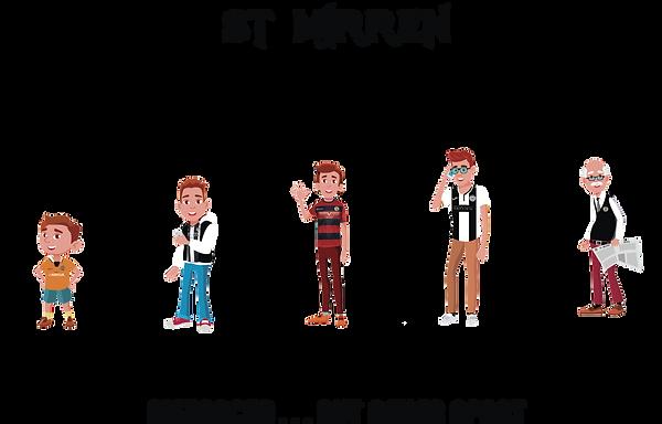 ST MIRREN SOCIAL DISTANCING - BLACK TEXT