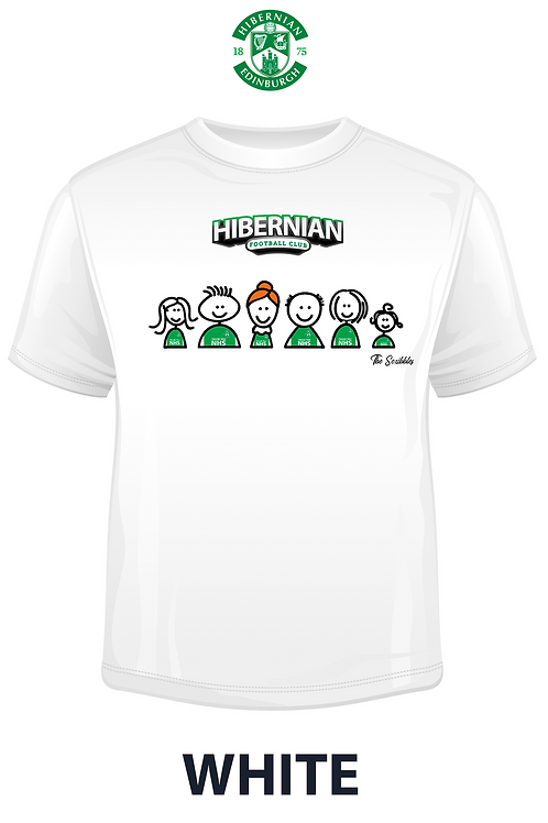 "HIBERNIAN FC ""The Scribbles""  T-SHIRT"