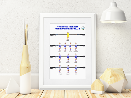 GREENOCK MORTON FC A3 ART PRINTS IN MOUNT