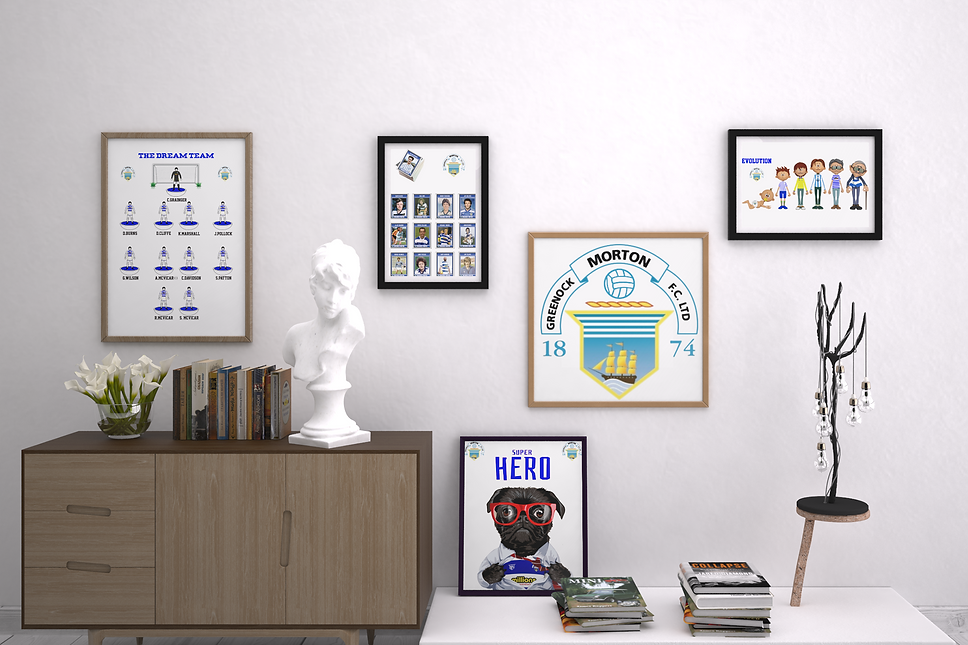 mockup-of-several-art-print-frames-in-an