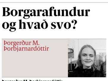 Borgarafundur og hvað svo?