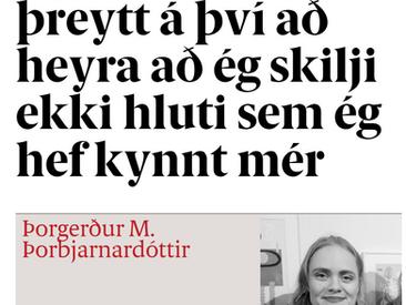 Ég er orðin svo þreytt á því að heyra að ég skilji ekki hluti sem ég hef kynnt mér