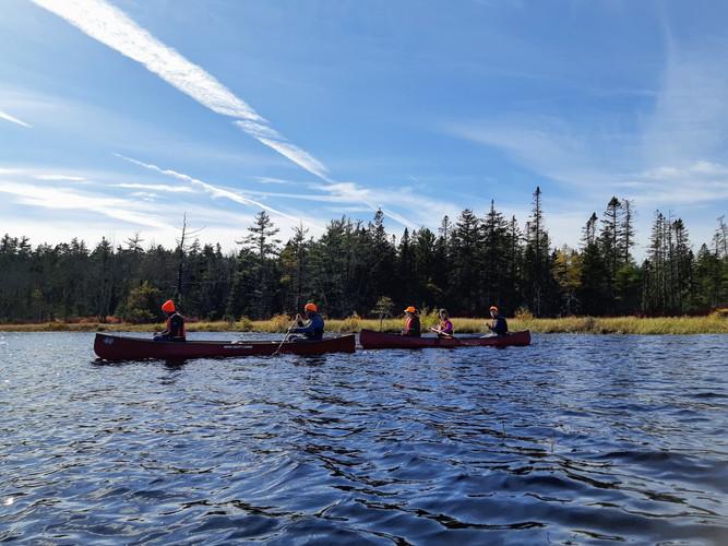 Canoeing Long Lake