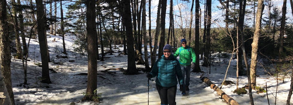An icy March day at the Collins Road trailhead