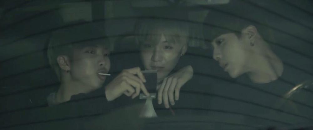 RUN HYYH BTS Bangtan Suga JIN RM in car polaroid