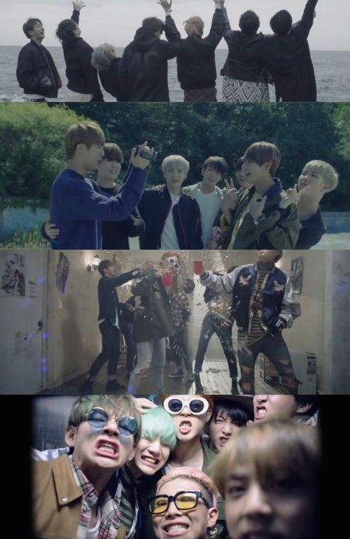 Bangtan BTS Run Screenshot full group fun party HYYH Peter Pan