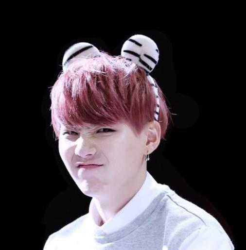 The White Tiger of BTS Suga Min Yoongi Bangtan Agust D rapper cute photo fan sign