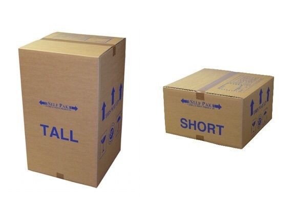 short tall cardboard boxes weight distribution
