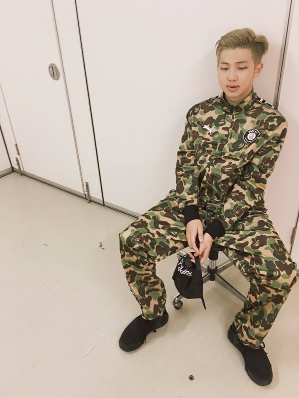 Military service enlistment in South Korea BTS Bangtan celebrity mandatory army uniform RM Kim Namjoon