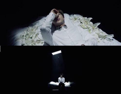 BTS Bangtan Wings skrot film Seokjin Awake bed flowers dark theory