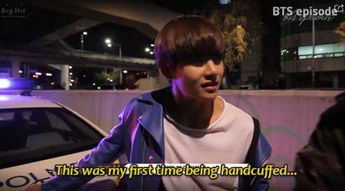 Korean Law legal illegal being a kpop fan BTS Bangtan V Kim Taehyung handcuffed meme