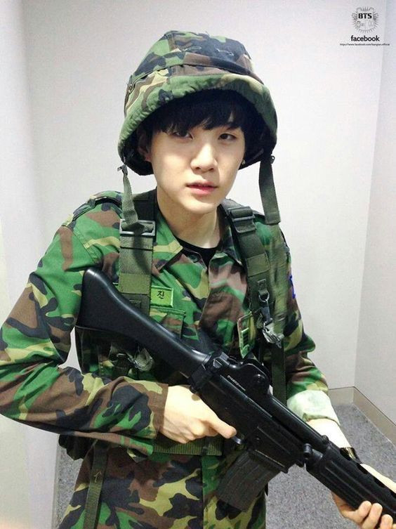 Military service enlistment in South Korea BTS Bangtan celebrity mandatory army Suga uniform