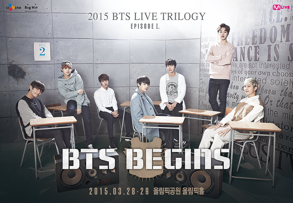 Bangtan BTS Begins  2015 live trilogy Bighint theory Kim Seokjin Jin Min young suga park jimin kim namjoon RM Rap monster Jung Hoseok J-hope Jungkook JK basketball boxing books camera bodyguard doll toy painting full group