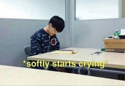 BTS Bangtan softly crying meme
