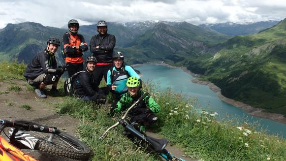 Flying Dutchmen on the Roche Parstire ridgeline