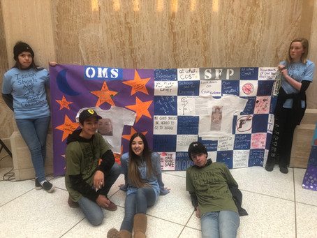 CdP Students Attend Gun Violence Prevention Day of Action at New Mexico State Capitol Roundhouse.