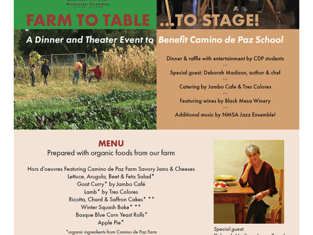 SOLD OUT: Camino de Paz Annual Fundraiser: Farm to Table…to Stage!