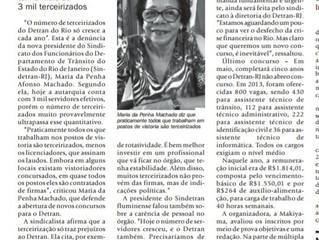 Entrevista da nossa presidente Maria da Penha para a Folha Dirigida.