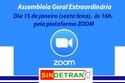 Assembleia Geral Extraordinária Sindetran/RJ