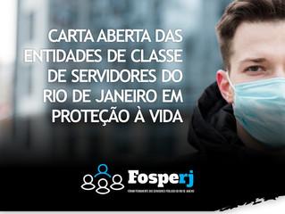 """""""Carta aberta à população e em defesa da vida"""""""