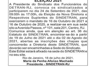 Edital de Convocação Eleição 2021