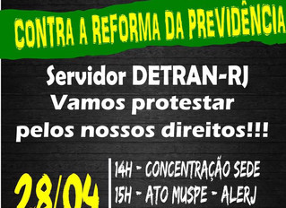 Convocação: Manifestação Contra a Reforma da Previdência