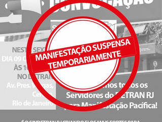 """Comunicado Importante! """"Manifestação Pacífica marcada para o dia 9/10, Suspensa Temporariamente até"""