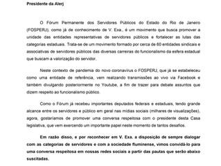 Ofício FOSPERJ nº 05/2020