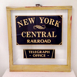 NY CENTRAL TELEGRAPH SIGN