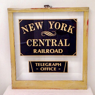RAILROAD TELEGRAPH SIGN