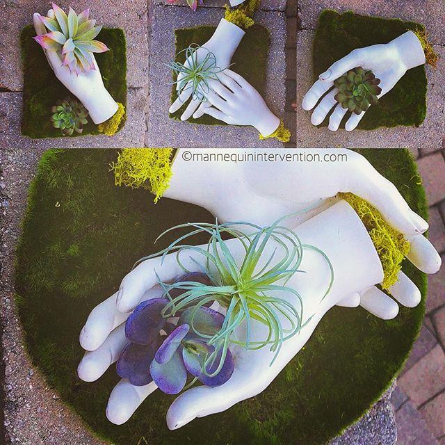 #helpinghands #greenthumb #garden #sculpture #artsy #handinhand #gardenparty #hands #handwork #setup