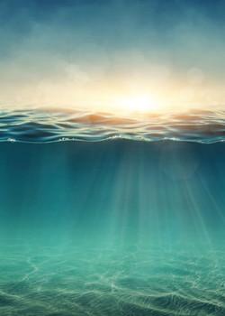 THE SEA 5' X 7'