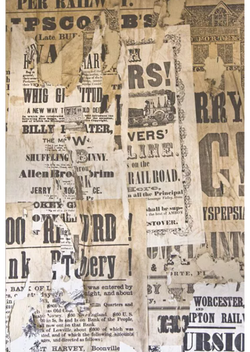 OLD NEWSPAPER 5' X 7'