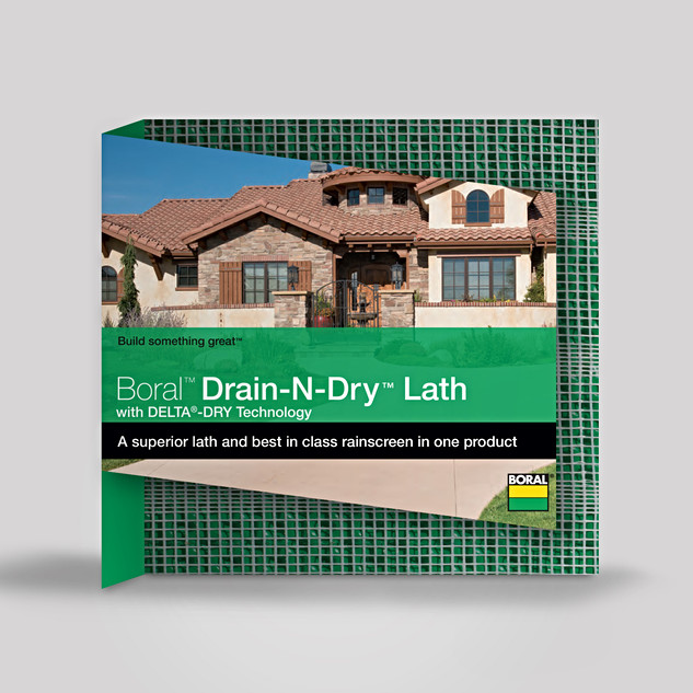 BORAL DRAIN N DRY LATH PRODUCT PACKAGING