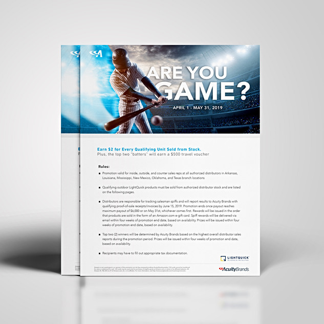 ARE YOU GAME? PROMO ADS