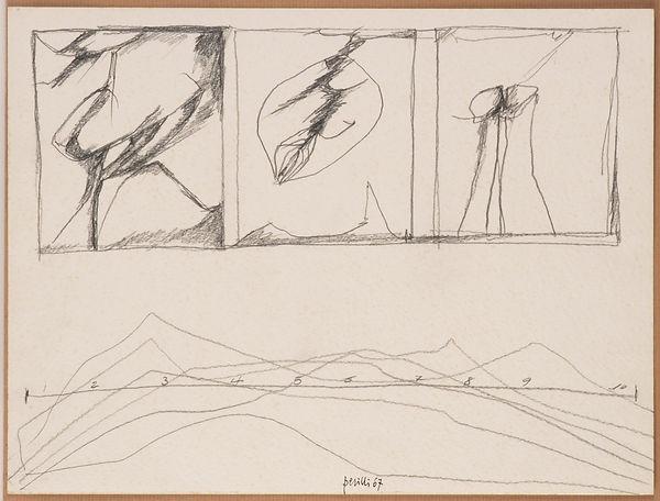 Achille Perilli-Senza titolo-1967-matita