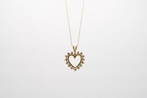 Diamond Heart Pendant 0.90cts