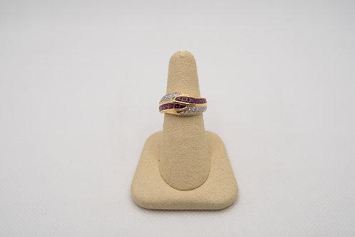 14K Yellow Gold Tourmaline & Diamond Ring