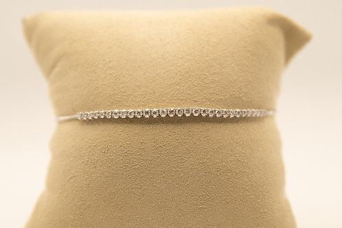Diamond Tennis Bracelet with Chain