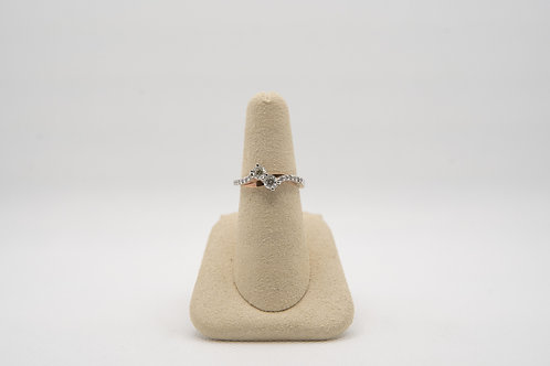 Diamond Two-Stone Ring 0.61cts