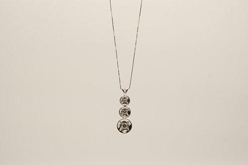 Contemporary 3 Diamond Pendant