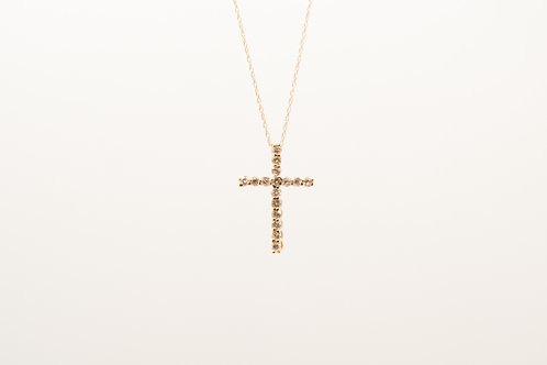 Rose gold Diamond Pendant Cross