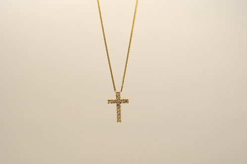 Diamond Cross Pendant 0.75cts