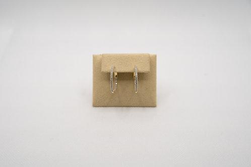 Diamond Hoop Earrings 0.58cts