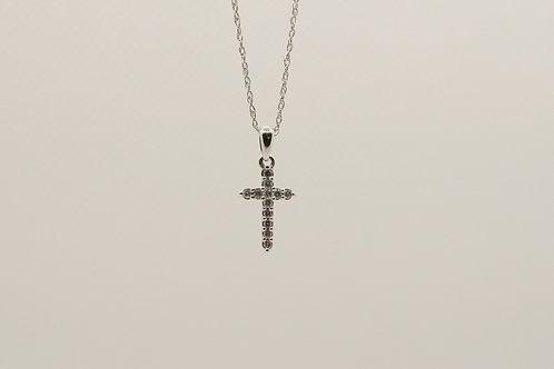 Diamond Cross Pendant 0.10cts
